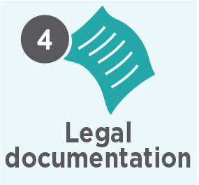 Our process step 4 legal documentation