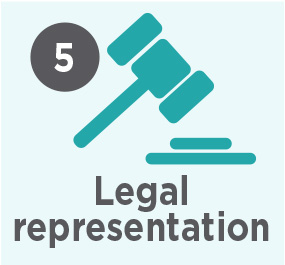 Our process step 5 legal representation